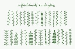 Hand Drawn Floral Elements & Backgrounds Product Image 3
