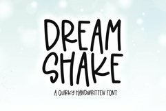 Web Font Dream Shake - A Quirky Handwritten Font Product Image 1