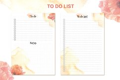 Printable undated planner's sheet A5 Product Image 5