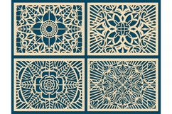 Laser cutting wall pattern canvas vector template panel Product Image 1