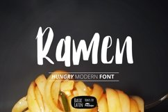 Ramen Font Product Image 1