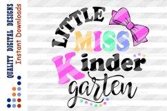 Little miss Kindergarten svg Back to school svg Teacher svg Product Image 2