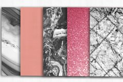 Marble Rose Gold Digital Paper, Marble background Product Image 3