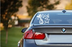 Get off my tail svg | Mermaid svg | Car Decal svg Product Image 2