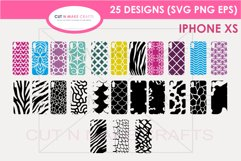 25 iPhone XS SVG Designs| Phone Case Decals Product Image 1