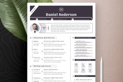 Resume Cv Template With Editable Word Apple Pages Format Product Image 2