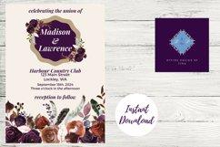Plum and Beige Autumn Wedding Invitation Product Image 3