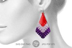 Earrings SVG, Teardrop earring, Geometrical earrings Product Image 5