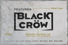 Black crow. Strong sans-serif family Product Image 3