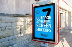 4 Outdoor Ad Screen Mock-Ups Set Bundle / 18 PSD Product Image 2
