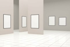 Large Art Gallery Frames Mockup 3D Product Image 2