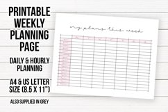 Printable Weekly Planning Sheet   Planner Page Sheet Product Image 1