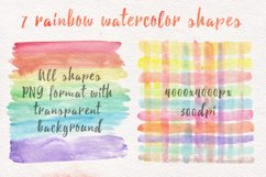 Rainbow watercolor seamless pattern Product Image 4