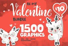 Valentine illustrations bundle - Baby Sublimation designs Product Image 1