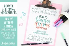 Hand Lettering Guides, Tricky Letter Combinations Worksheets Product Image 1