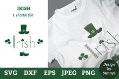 Irish svg. Leprechaun hat, shoe, shamrock, St.Patricks day Product Image 1