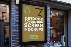 4 Outdoor Ad Screen Mock-Ups Set Bundle / 18 PSD Product Image 3