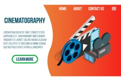 Cinematography concept banner, isometric style Product Image 1