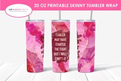 9 Breast Cancer 20 Oz. Skinny Tumbler Sublimation Bundle Product Image 6