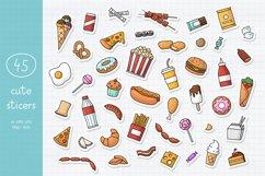 Doodle Fast Food Big set Clipart Product Image 3