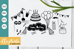 Birthday SVG Cut Files   Birthday Party Clipart   Party SVG Product Image 1
