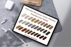 Harvest Browns Color Palette ,Procreate palettes Product Image 1