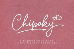 Chipoky | A Handwritten Font Product Image 1