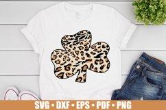 Leopard Shamrock SVG files for Cricut, Leopard Clover SVG Product Image 2