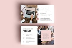 PPT Template | Business Plan - Pink and Marble Round Product Image 4