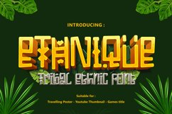 ETHNIQUE - Gaming Font Product Image 1
