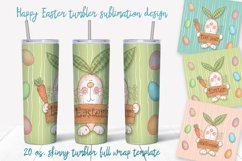 Happy Easter Png. Easter sublimation design. Skinny tumbler Product Image 1