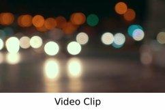 Video: Defocus of city traffic at night Product Image 1