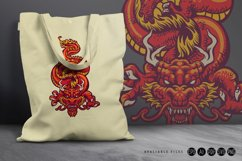 Animal Red Dragon Asia Oriental SVG Illustrations Product Image 3