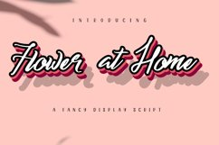 Flower at Home| A Fancy Display Script Product Image 1
