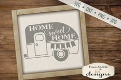 Home Sweet Home Camper Trailer SVG DXF File Product Image 1