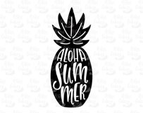 Aloha Summer. Silhouette of pineapple. SVG, EPS, DXF, PNG. Product Image 3