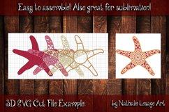 Layered Mandala Starfish 3D SVG Beach Design And Sublimation Product Image 3