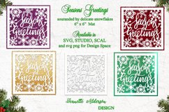 6 x 6 inch mat and topper Seasons Greetings and Snowflakes Product Image 1