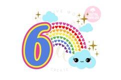 6th Birthday svg | My 6th Birthday svg | Rainbow Birthday Product Image 1