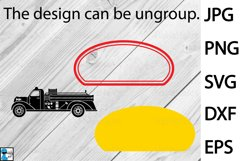 Old Fire Truck Design - Clip art / Cutting Files 1311c Product Image 2