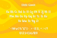 Web Font - Little Comet - Bubbly Handdrawn Typeface Product Image 2