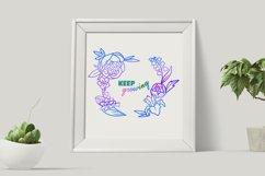 Floral wreath svg, Mothers Day SVG, Floral Frame Svg, Spring Product Image 3