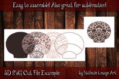 3D SVG Mandala Sea Shell 4 Layers Cutting File Sublimation Product Image 2
