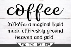 Coffee Definition SVG Product Image 1