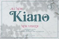 Kiano 3 Fonts Update Product Image 1