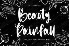 Web Font Beauty Rainfall - Beauty Bold Handwritten Font Product Image 1