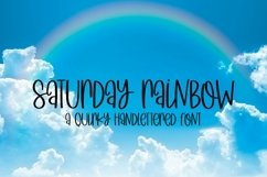 Web Font Saturday Rainbow - A Quirky Handlettered Font Product Image 1