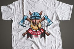 Viking Warrior Logo Colored Template Product Image 5