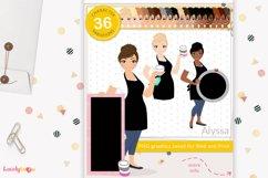 Chalk art woman character clipart LVC48 Alyssa Product Image 1