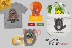 Forest rodents squirrel, mouse, groundhog and chinchilla Product Image 1